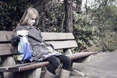 Mädchen ohne Freunde Lizenzfreie Stockfotos