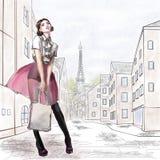 Mädchen in Paris Lizenzfreie Stockbilder
