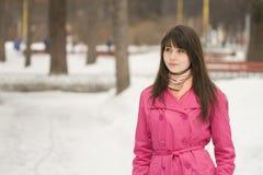 Mädchen am Park Stockbild