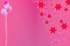 Mädchen-Party-Einladung lizenzfreie abbildung