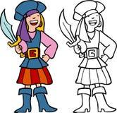 Mädchen-Pirat Lizenzfreies Stockfoto