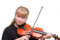 Mädchen playng Violine Stockfotos