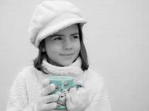 Mädchen-Porträt colorkey Stockbild