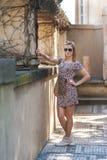 Mädchen in Prag-Schloss Lizenzfreies Stockbild