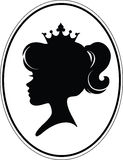 Mädchen-Prinzessin Silhouette Stockfotografie