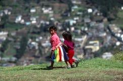 Mädchen in Quito Stockfoto