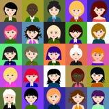 25 Mädchen Raster 1 1 1 Lizenzfreie Stockfotos