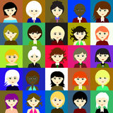25 Mädchen Raster 3 3 3 Stockfotografie