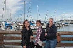 Mädchen-reisendes Trio Lizenzfreie Stockbilder
