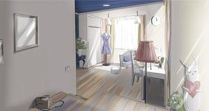 Mädchen ` s Schlafzimmerinnenraum Stockbild