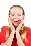 Mädchen schaut überrascht Lizenzfreie Stockbilder