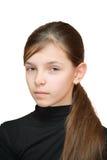 Mädchen schaut misstrauisch Stockfotografie