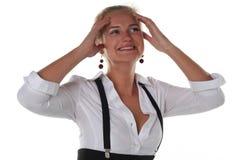 Mädchen schreit vom Glück lizenzfreie stockfotografie