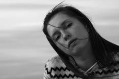 Mädchen. Schwarzweiss-Portrait Lizenzfreies Stockfoto