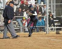 Mädchen-Softball Stockbild
