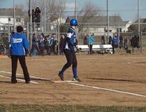 Mädchen-Softball Stockbilder