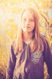 Mädchen am Sonnenlicht Stockfoto