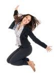 Mädchen springen lizenzfreies stockfoto