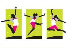 Mädchen-Springen Stockbild