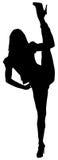 Mädchen-Stellung-Spalten stockbild