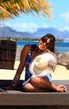 Mädchen am Strand Lizenzfreies Stockbild