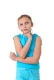 Mädchen tief in den Gedanken Stockfoto