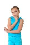Mädchen tief in den Gedanken Stockfotos
