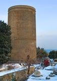 Mädchen-Turm im Winter Stockfotos