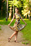 Mädchen tut Pirouette Stockfotografie