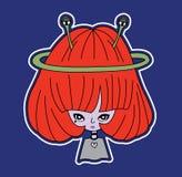 Mädchen-UFO Lizenzfreies Stockbild