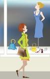 Mädchen und Attrappe Stockbild