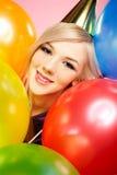 Mädchen und Ballone Lizenzfreie Stockfotografie