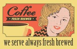 Mädchen und ein Tasse Kaffee Stockfotos