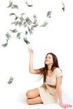 Mädchen und Geld Lizenzfreie Stockfotografie