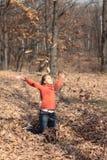 Mädchen und Herbst Lizenzfreies Stockbild
