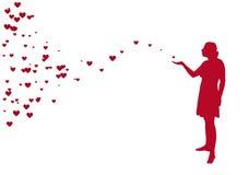 Mädchen und Herz Stockbilder