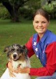 Mädchen und Hund Lizenzfreie Stockbilder