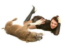 Mädchen und Hund Lizenzfreie Stockfotografie