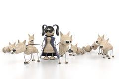 Mädchen und Hunde Stockfoto