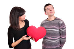 Mädchen und Junge gebrochene Liebe Lizenzfreie Stockfotos
