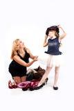Mädchen und Mama Lizenzfreie Stockfotografie