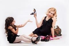 Mädchen und Mama Stockbild