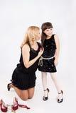 Mädchen und Mama Stockbilder