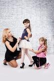 Mädchen und Mama Stockfotografie