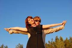 Mädchen und Mann Stockfotografie