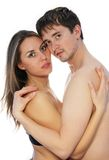 Mädchen und Mann zusammen 3 Lizenzfreies Stockbild