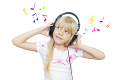 Mädchen und Musik Lizenzfreie Stockfotos