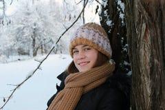 Mädchen und Natur stockbild