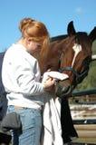 Mädchen und Pferd lizenzfreies stockbild