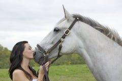 Mädchen und Pferd Lizenzfreie Stockbilder